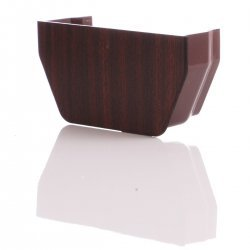 Mahogany Square Internal Gutter Stop End