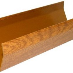 4m Golden Light Oak Square Gutter