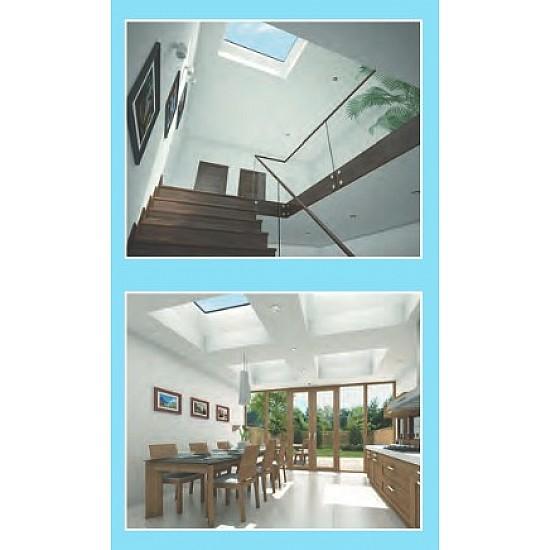 M027 - 750 X 750 Direct Fix Dome - Single Glazing
