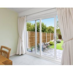 uPVC Sliding Patio Door - 2 Pane - A-Rated - Made-To-Measure