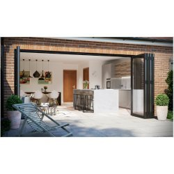 Aluminium WarmCore Bi-Fold Door 3 Pane Folding Door Price inc vat