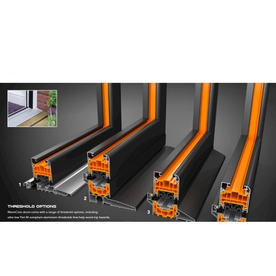 Aluminium WarmCore Bi-Fold Door 3 Pane Folding Door Price inc vat