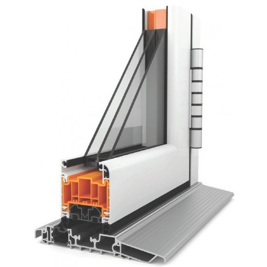 Aluminium French Doors WarmCore Grey or White - Price Inc VAT