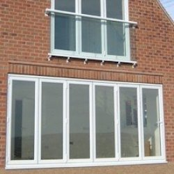 UPVC Double Glazed Made to measure Bi-fold 6 Pane Folding Door