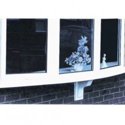 1.8m GRP White Window Bow Cill Base