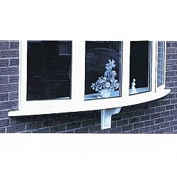 1.8m GRP White Window Bow Cill Base