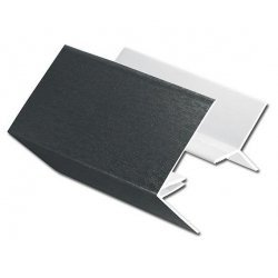 Anthracite Grey 2-Part External Corner Trim for Shiplap Cladding - RAL 7016