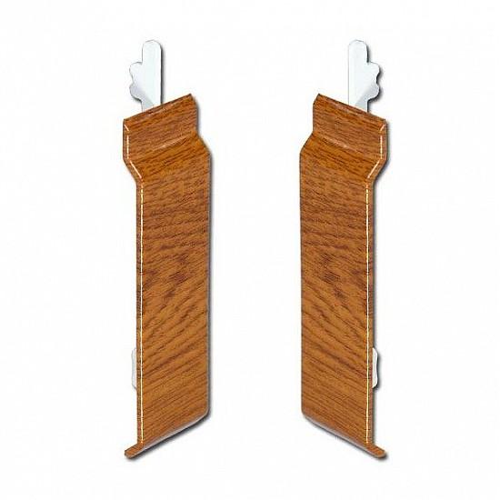 Light Oak uPVC Open-V Cladding Joint Covers 100mm