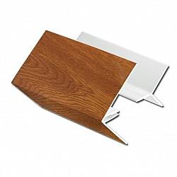 Light Oak uPVC 2-Part External Corner