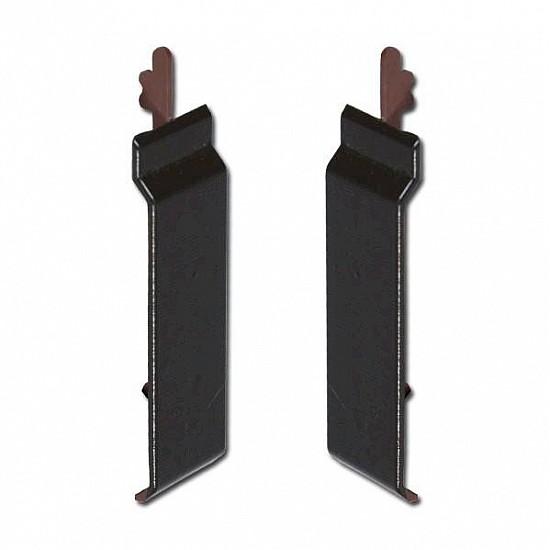 Black Ash uPVC Open-V Cladding Joint Covers 100mm