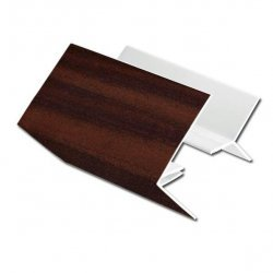 Mahogany uPVC 2-Part External Corner Cladding Trim