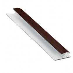 16mm H-Section for Shiplap Cladding uPVC - Rosewood