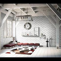 Grey Brick Effect Wall (Matte) Decor Panel - 2.6mtr x 250mm x 7.5mm x 4 Pack