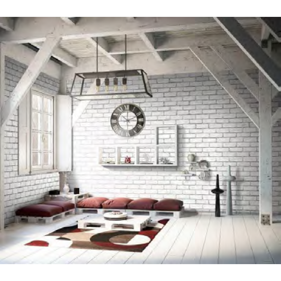 Grey Brick Effect Wall (Matte) Decor Panel - 2.6mtr x 250mm x 7.5mm x 4 Pack