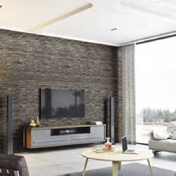 Internal Wall Cladding Natural Stone Effect Anthracite Dark Grey (Matte) Panel