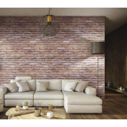 Red Brick Effect Wall Cladding (Matte) Decorative PVC Panel - 2.6mtr x 250mm x 7.5mm x 4 Pack