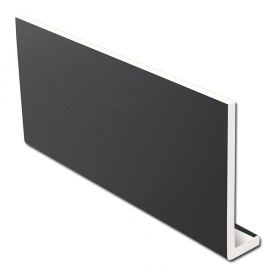 Dark Grey Fascia Board - 400mm x 9mm x 5m - RAL 7016 - uPVC