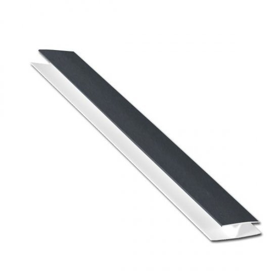 Dark Grey 10 mm X 5 metre H-Section Trim for Hollow Soffit