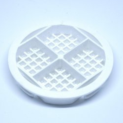 White 68 mm Round Disc Soffit Vent