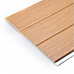 300mm Hollow Soffit Board Tongue & Groove - Irish Oak - uPVC