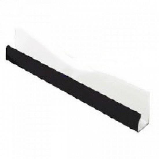Plain Black J / Edge / Starter Trim - 10mm for Hollow Soffit