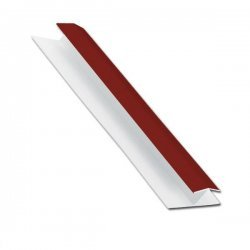 H-Section Trim For Hollow Soffit - Wine Red - uPVC - 5m