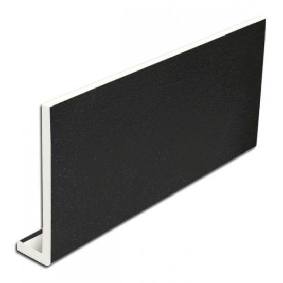 200mm x 5m Black Fascia Board