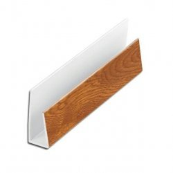 Light Oak J / Edge / Starter Trim - 10mm for Hollow Soffit
