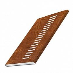 150mm Light Oak Foiled 9mm uPVC Vented Soffit Board