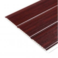 300mm Hollow Soffit Board Tongue & Groove - Mahogany - uPVC
