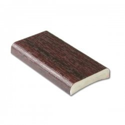 25mm D-Section - Mahogany - uPVC