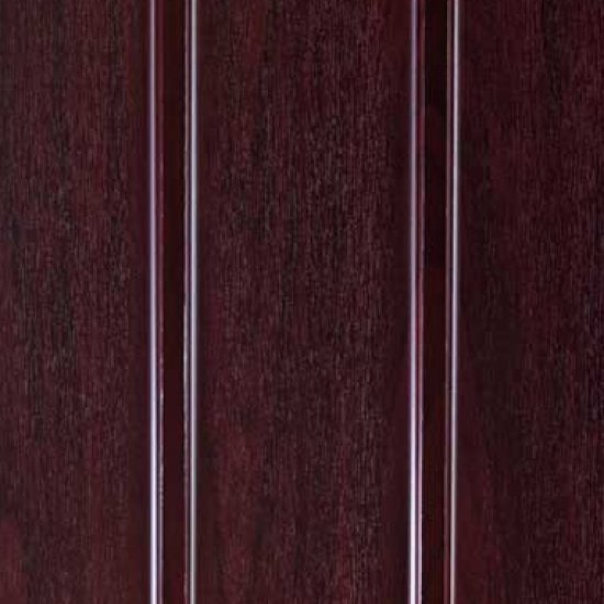 300mm Hollow Soffit Board Tongue & Groove - Rosewood - uPVC