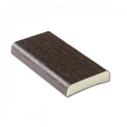 25mm D-Section - Rosewood - uPVC
