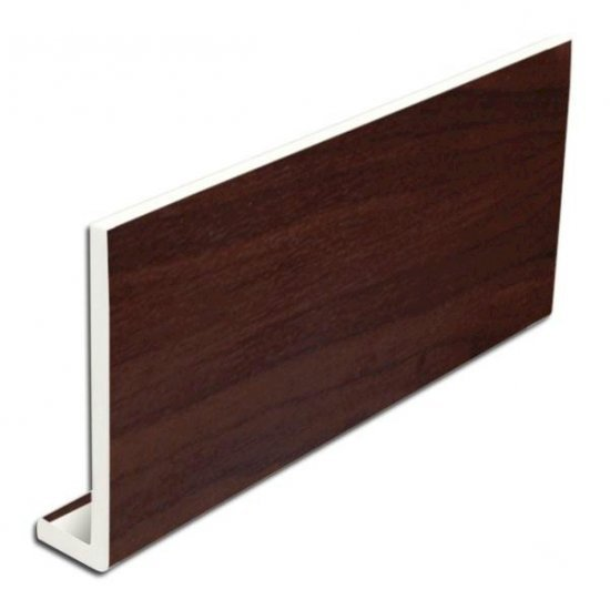 9mm 400mm x 5m uPVC Rosewood Fascia Cover Board