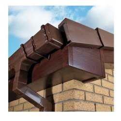 9mm 150mm x 5m uPVC Rosewood Fascia Cover Board