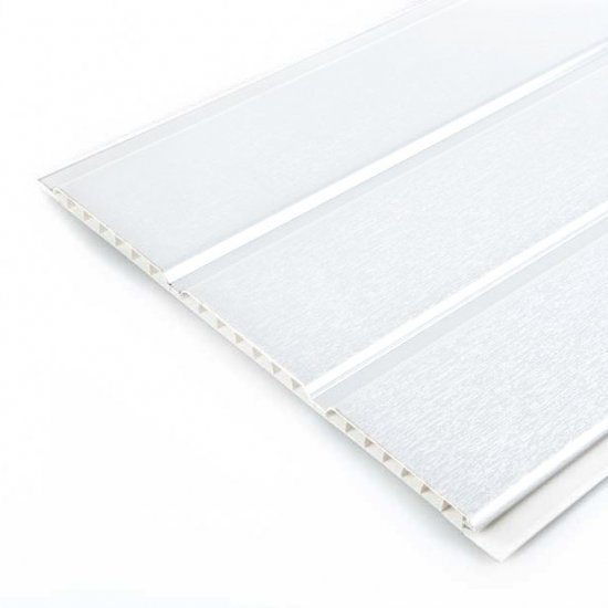 300mm Hollow Soffit Board Tongue & Groove - White - uPVC