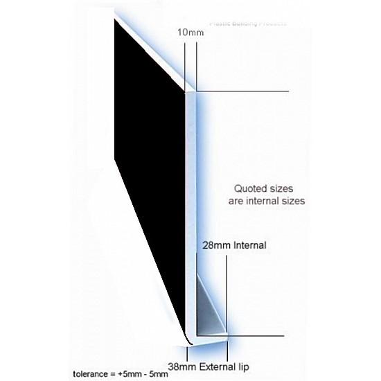 250 mm Plain Black PVC Fascia Board