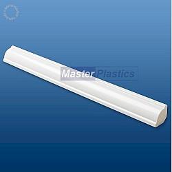 White Kestrel 18mm uPVC Ogee Quadrant