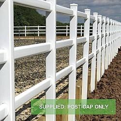 Plastic PVC Vinyl Post  Cap green