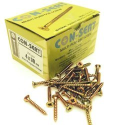 Con-Sert 4mm x 30mm Multipurpose Screws