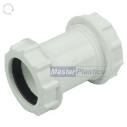 32mm Waste Pipe Straight Coupling