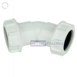 32mm 135 Waste Pipe Bend