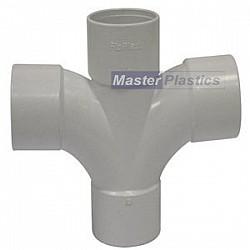 40mm Waste Pipe Cross Tee