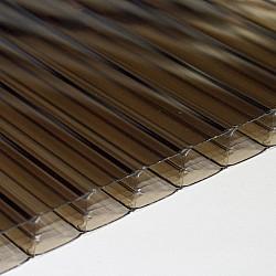 Polycarbonate Sheet - Bronze - Multi-Wall / Triple Wall - 16mm X 600mm X 1500mm