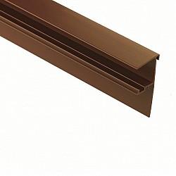 35mm, 3m - Aluminium Snap Down F Section / Edge Trim - White or Brown
