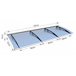 2.7m Blue Door Canopy