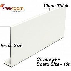White 10mm x 100mm Fascia Board in 2.5 metre Length