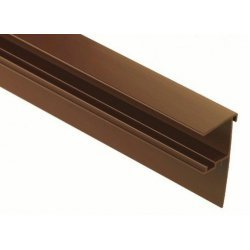 3m Roof Edge Trim - 10mm Brown