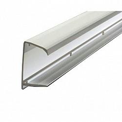 10mm  Sheet End Closure - White - 2.1 Metre