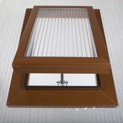 Caramel Polycarbonate Roof Vent - For 16mm Polycarbonate.